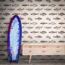 Fish in Geometrics Wallpaper