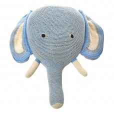 Knitted Elephant Head Deco