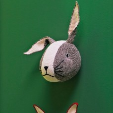 Knitted Hare Head Deco