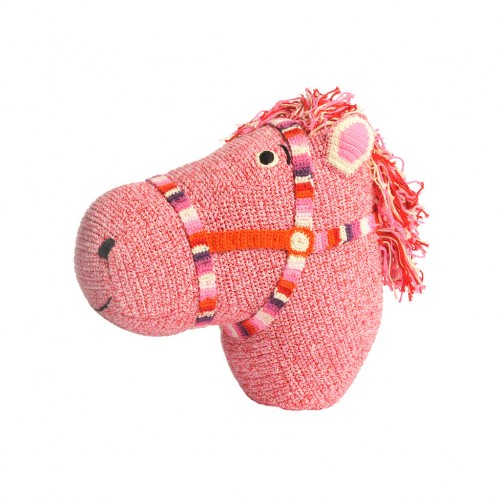 Knitted Horse Head Deco