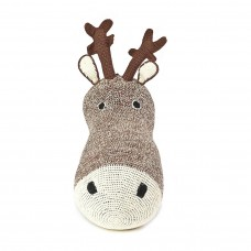 Knitted Reindeer Head Deco