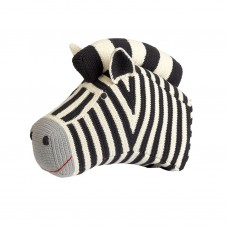 Knitted Zebra Head Deco