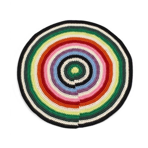 Small Multicolour Round Rug