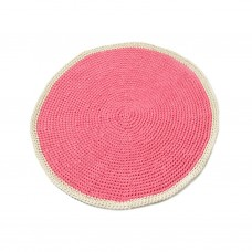 Small Pink Round Rug