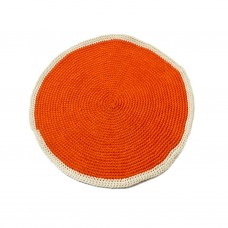 Small Red Round Rug
