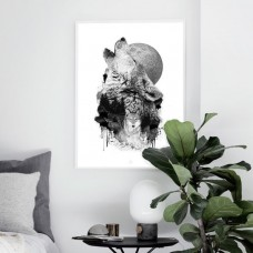 Black Wolves Framed Print