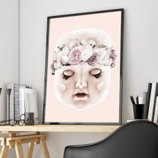 Flower Doll Framed Print