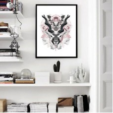 Flower Gazelle Framed Print