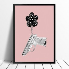 Flying Gun Framed Print