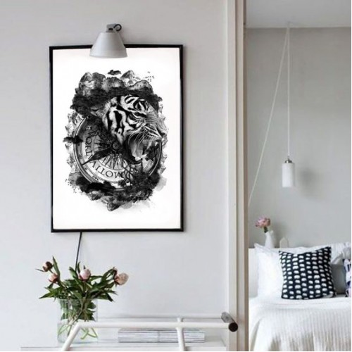 Tiger Collection Framed Print