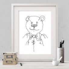 Line Bear Print