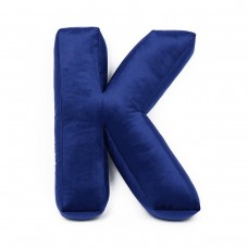 Velvet Letter Pillow- Blue