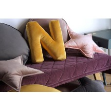 Velvet Letter Pillow- Yellow