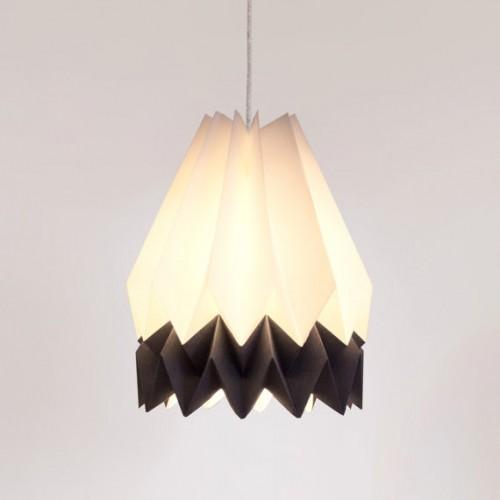 Origami Lampshade- 2 Tone Alpine Grey