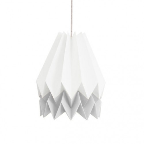 Origami Lampshade- 2 Tone Light Grey