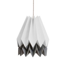 Origami Lampshade- 2 Tone Light grey with Alpine Grey