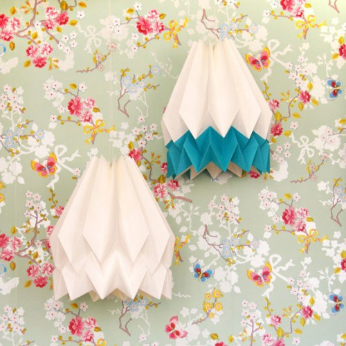 Summer Origami Lampshade Blue