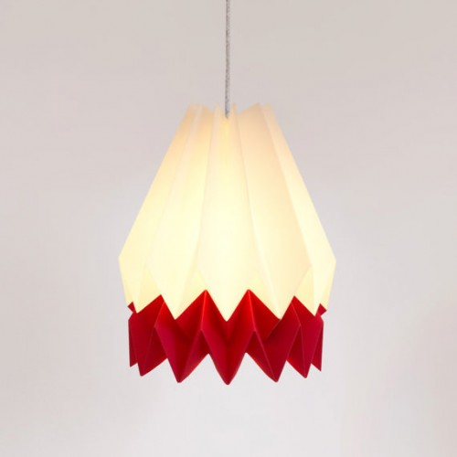 Summer Origami Lampshade Red