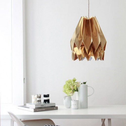 Origami Lampshade Gold