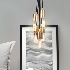 Cero 5 Group Pendant Lamp - Black & Gold