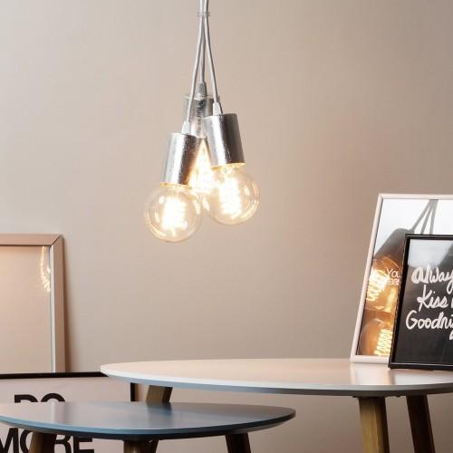 Cero 5 Group Pendant Lamp - White & Silver