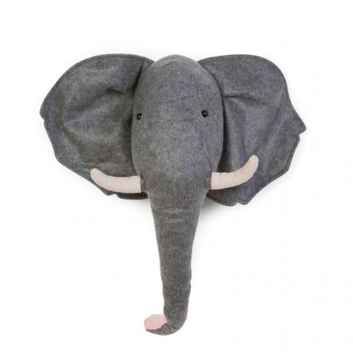 Elephant Head Wall Deco