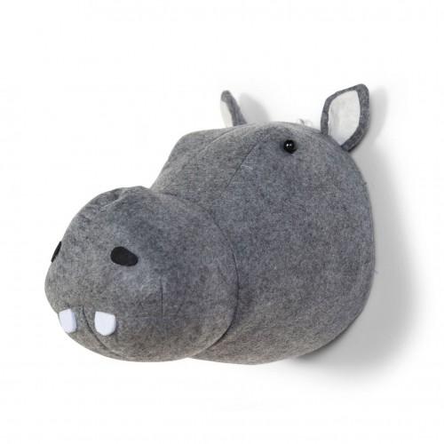 Hippo Head Wall Deco