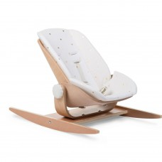 Wooden Baby Rocker with Padded Seat
