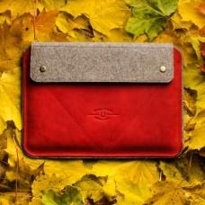 Autumn Red Leather Case - MacBook/iPad