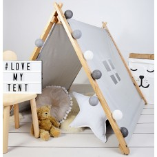 A-Frame Playhouse Tent - Grey