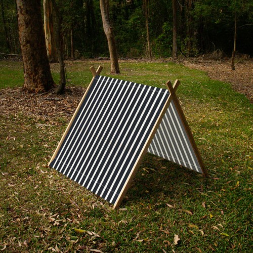 Collapsible Play Tent -Black Stripes