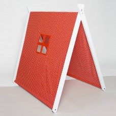White Collapsible Play Tent - Red Polka Dots