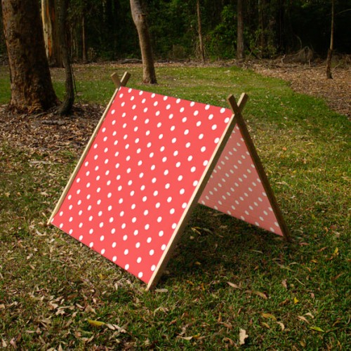 Collapsible Play Tent - Red Polka Dots