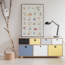 Childrens Low Colourful Drawers