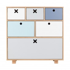Childrens High Pastel Drawers