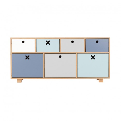 Childrens Low Pastel Drawers