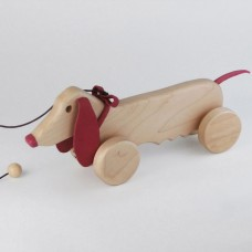 Red Pull Along Dog Toy