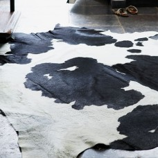 Cow Hide Rug Black & White