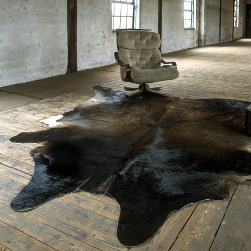 Cow Hide Rug Brindle