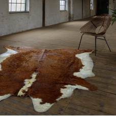 Cow Hide Rug - Brown & White