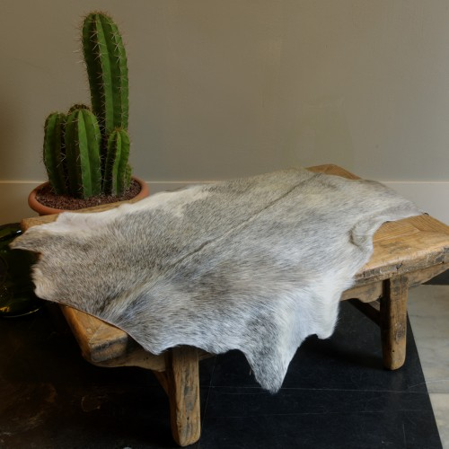 Goat Hide Rug Light