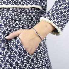 Silver V Cuff Bracelet