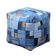 Amarillo Patch Pouffe
