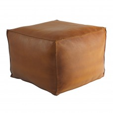 Memphis Small Leather Pouffe