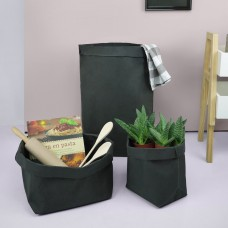 Black Paper Bag Plant Pot