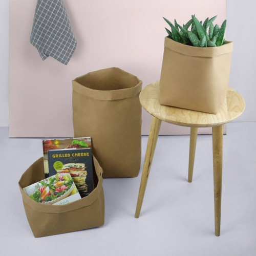 Brown Paper Bag Plant Pot