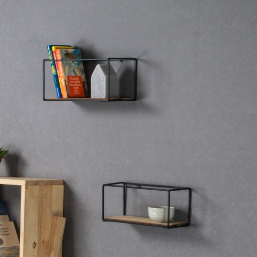 Metal Frame Rack Shelf - 2pc Set