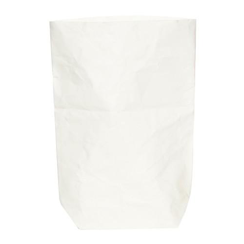 White Paper Bag Plant Pot