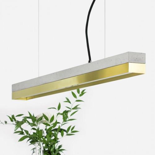 Brass & Concrete Pendant Light 92 [C2]