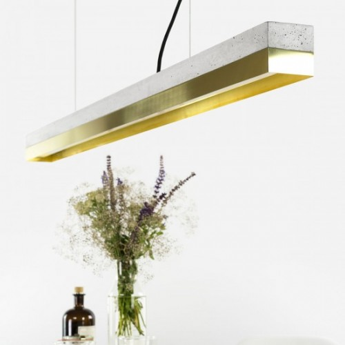Brass & Concrete Pendant Light 122 [C1]